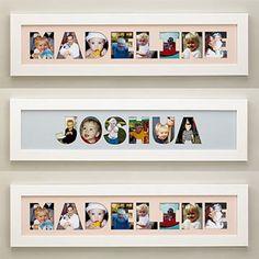 Cómo hacer un cuadro con fotos y el nombre de tu hijo