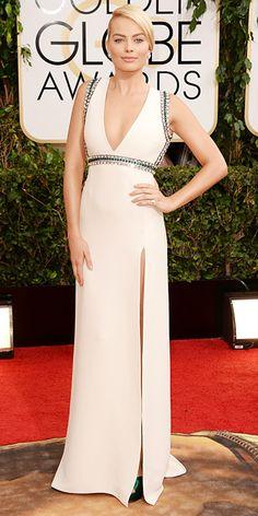 Margot Robbie in Gucci - Golden Globes