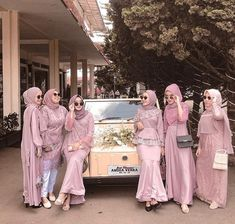 Hijab Dress Party, Hijab Style Dress, Simple Bridesmaid Dresses, Simple Dresses, Bridesmaids, Wedding Hijab, Wedding Dresses, Model Kebaya, Simple Dress Pattern