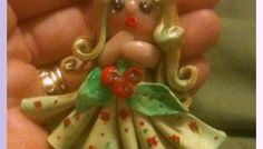 Cute little Apple Princess made from Polymer Clay - adorable girly gift