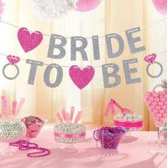 Bride To Be Banner Silver Glitter Garland