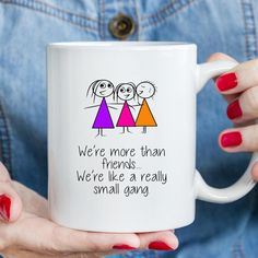 Best Friend Mug Funny Novelty Gifts More Than Friends Small Gang Birthday Christmas Humour Cup Secret Santa Stocking Filler Friend Best Friend Mug, Friend Mugs, Novelty Mugs, Novelty Gifts, Custom Wall, Custom Mugs, Rude Mugs, Funny Cups, Sublimation Mugs