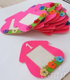 cıvıl cıvıl Easy Felt Crafts, Foam Crafts, Diy And Crafts, Arts And Crafts, Paper Crafts, Diy Projects For Kids, Diy For Kids, Crafts For Kids, Felt Decorations