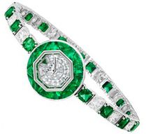 The Emerald & Diamond BabyGraff Ladies Watch