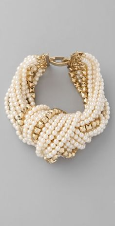 Pearl and Gold-tone Bracelet