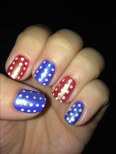 Red, white, and blue mani!