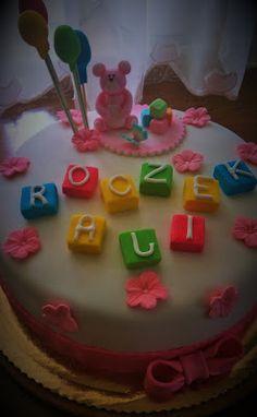 Ciasta ,Torty ,Uroczystości: Tort dla kochanej wnusi Ali