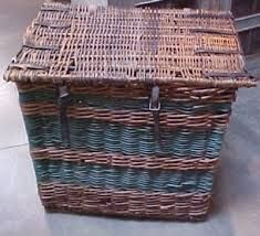 beautiful blue and brown basket