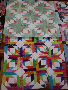 Love the green Pineapple Blossom - from Quiltville.com, Bonnie Hunter