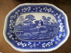 Vintage Spode Platter w/ the older Spode marking...pieces I own and love