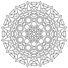 Mandala free printables best free printable easy mandala coloring pages Pattern Coloring Pages, Mandala Coloring Pages, Coloring Book Pages, Mandalas Painting, Mandalas Drawing, Mandala Design, Doodle Pages, Simple Mandala, Design Tattoo