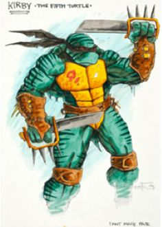 A 5th Turtles concept for a live action TMNT turles movie.  Named for Giovanni Kirby, basically a good version of Slash.
