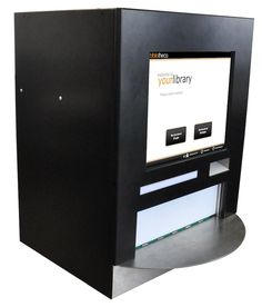 Bibliotheca 300 Series automated check-in. Ability to reject items that are not recognized.  Touch screen is optional.  Up to three induction points. RFID or barcode. Receipt printer. Max speed 1800 items per hour.  Over 5 bins okay.