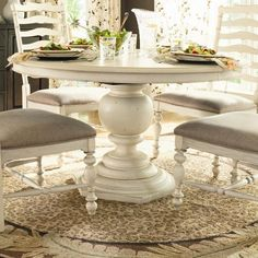 Paula Deen Home Round Pedestal Table by Paula Deen by Universal - Belfort Furniture - Dining Room Table Washington DC, Northern Virginia (NoVA), Maryland, and Dulles, VA