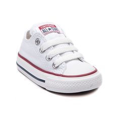 Shop for Toddler Converse All Star Lo Sneaker in Optic White at Journeys Kidz. Shop today for the hottest brands in mens shoes and womens shoes at JourneysKidz.com.Classic Converse Lo Top for the younger courtsters. You can never be too old or young for the originals. The smaller styles still feature the famous durable canvas upper and rubber sole like only Converse can do it.