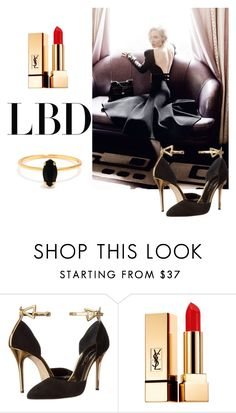 """J"" by ena07-dlxx ❤ liked on Polyvore featuring Oscar de la Renta, Yves Saint Laurent, Bing Bang and LBD"