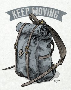 Most of the most popular bags do not meet a certain aesthetics this season. Backpack Drawing, Drawing Bag, Arte Sharpie, Best Hiking Backpacks, Outdoor Logos, Ad Of The World, Travel Illustration, Mountain Hiking, Illustrator