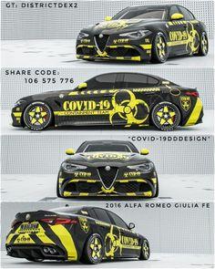 Custom Muscle Cars, Custom Cars, Super Sport Cars, Super Cars, Vinyl Wrap Car, Racing Car Design, Forza Horizon 4, Street Racing Cars, Alfa Romeo Giulia
