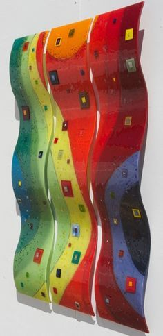Fused Glass Art Panels Seattle | shown is per panel also availble in a flat panel £ 495 per panel ...