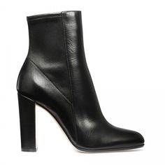 Leather ankle boots - Excelsior Milano ($845) ❤ liked on Polyvore featuring shoes, boots and ankle booties
