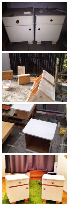 Refurbished those nice nightstands i found in the attic at my late grandmothers place Grandmothers, Nightstands, Attic, Diy Projects, Nice, Loft Room, Attic Rooms, Handyman Projects, Handmade Crafts