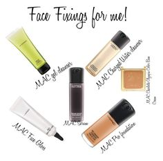 """Face Fixings for me:MAC"" by minadinamike on Polyvore featuring beauty and MAC Cosmetics"