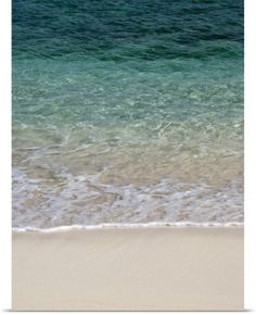 Maresa Pryor Poster Print Wall Art Print entitled Tropical white sand beach, None