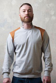 hellgrauer Longsleeve für Männer / for men, sweater by 5000Gentlemen via DaWanda.com