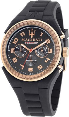 Maserati Pneumatic R8851115008, Maserati Reloj para Caballero color Negro con fecha/calendario Para hombres
