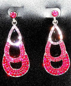 Shades of Pink Austrian Crystal Dangle Earrings   #unbranded #DropDangle http://stores.ebay.com/JEWELRY-AND-GIFTS-BY-ALICE-AND-ANN