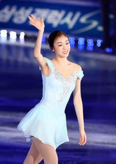All That Skate 2014 / Figure Skating Queen YUNA KIM, Blue Figure Skating / Ice Skating dress inspiration for Sk8 Gr8 Designs.