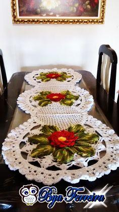 Bya Ferreira - Crochet Designer: Vídeo aula Caminho de mesa (ou passadeira) em barbante