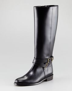 Tall Leather Boot by Burberry at Neiman Marcus.