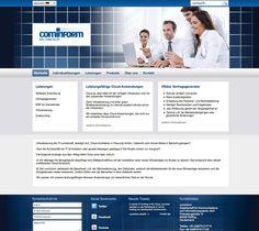 Cominform um projecto desenvolvido pela Navega Bem Web Design - Madeira http://www.cominform.de/de/