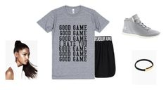 """""""Got a basketball game in two hours go knights!!"""" by frantastictroye ❤ liked on Polyvore featuring Under Armour"""