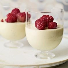 Goat Cheese Puddings (vanilla mousse texture)