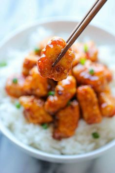 Spicy Orange Chicken!  #food #yummy #pheed