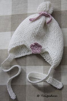 Taigaduu: Vauvan neulottu myssy Baby Knitting Patterns, Crochet Patterns, Knit Crochet, Crochet Hats, Pattern Library, Baby Head, Baby Born, Knitted Hats, Diy And Crafts