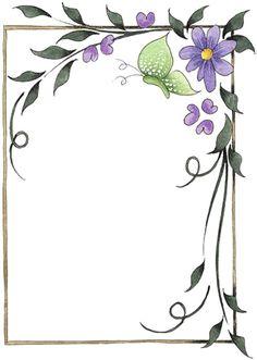 Bordes Decorativos: Bordes decorativos de flores para imprimir