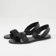 BRAIDED LEATHER FLAT SANDALS-Flat sandals-SHOES-WOMAN | ZARA United States
