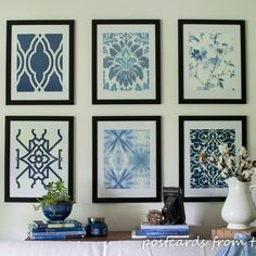 Pottery Barn-inspired Framed Wallpaper Artwork