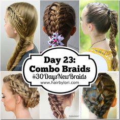Day 23 Combo Braids - 30 Day Braiding Challenge