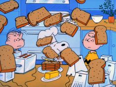 Snoopy, the Master Chef, love this scene ❤️