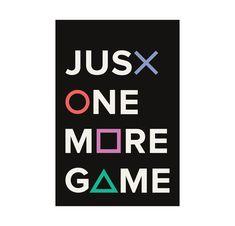 xbox decoracion Gaming Poster Geek Wall Art Playstation Art Just One