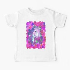Enchanted Forest Unicorn - Pink Palette Baby T-Shirt