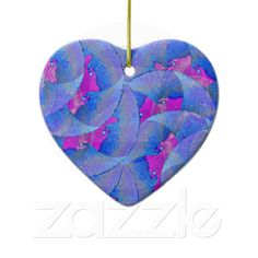 Autumn Leaves Ornament from Zazzle.com    autumn,leaves,turquoise, magenta,artistic, abstract, flower, digital,modern,retailer