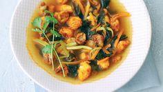 Le bouillon de crevettes et salsa de la mer de Valery Drouet