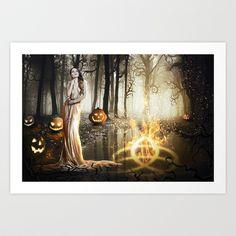 Earth, Fire and Magic Art Print by JuliSnowWhite - $16.00