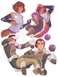 Korra and Kuvira Avatar Aang, Avatar The Last Airbender Art, Team Avatar, Avatar Funny, Prince Zuko, Avatar World, The Legend Of Heroes, Korrasami, Legend Of Korra