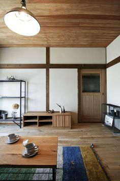 Cafe Design, House Design, Painted Furniture, Furniture Design, Japanese Interior Design, Wood Wallpaper, Wood Ceilings, House Rooms, Home Decor